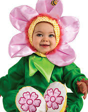 pink pansy flower halloween costume infant size 12 18 months w