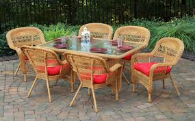 7 Piece Wicker Patio Dining Set - the portside 7 piece all weather wicker dining set tortuga