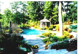 Pool Landscaping Ideas by Pool Landscaping Ideas Simple For Area Comely With Big Gazebo Plus