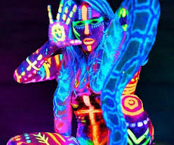 glow in the paint in the paint