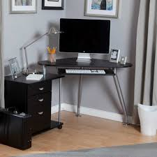 Glass Top Desk With Keyboard Tray Furniture L Shaped Office Computer Desk With Glass Top And Chrome