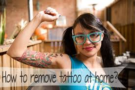 how to remove tattoo at home