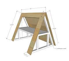 a frame plans ana white a frame dollhouse diy projects