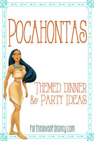 pocahontas inspired thanksgiving meal and ideas themed