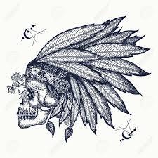 indian skull warrior symbol indian