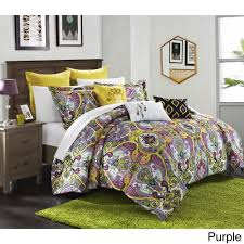 bombay bedding chic home bombay global inspired reversible 8 piece comforter set