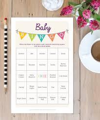 Baby Shower Printable Bingo Baby Shower Bingo Game 50 Unique Game Sheets Bingo Baby