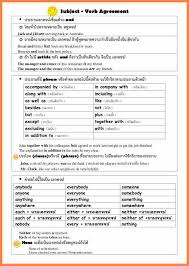 5 grammar exercises subject verb agreement purchase agreement group