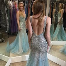 Light Blue Mermaid Dress Backless Prom Dresses Open Back Prom Dress Light Blue Prom Gown