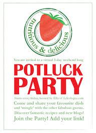 potluck invitation potluck party healthy meals ella