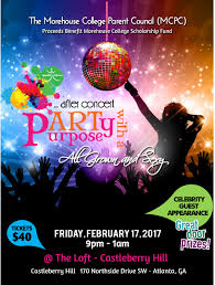 after concert party with a purpose proceeds benefit morehouse