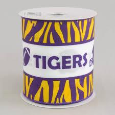 football ribbon 4 tiger stripe football helmet ribbon purple gold 10 yards