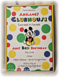 mickey mouse clubhouse birthday invites party engineering a mickey mouse clubhouse birthday