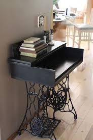 Sewing Machine With Table Ingenious Ideas For Repurposing A Treadle Sewing Machine