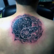biomechanical tattoo back tattoo designs