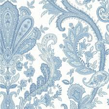 large blue and white paisley md29431 wallpaper farmhouse