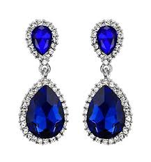 royal blue earrings blue drop earring