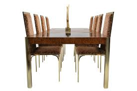 burl brass u0026 glass dining table from century furniture 1970s for