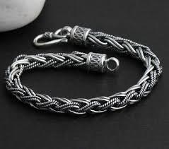 man sterling bracelet images Sterling silver men 39 s cuff bracelets bracelet handmade thailand jpg