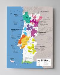 Map Of France Wine Regions by Detailed Wine Regions Of Portugal Map Wine Posters Wine Folly