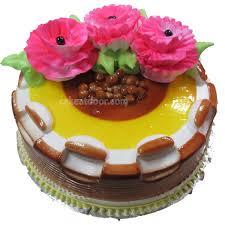 butterscotch 3 flowers cake c044 cakeatdoor com