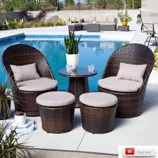 Patio Wicker Furniture Set - outdoor wicker chair and ottoman set garden of wicker