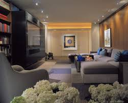 finest small recessed lighting for impressive basement family room