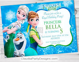 frozen fever birthday invitation personalized frozen fever party