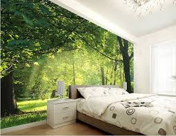 green wallpaper room custom 3d wallpaper idyllic natural scenery and flowers living room