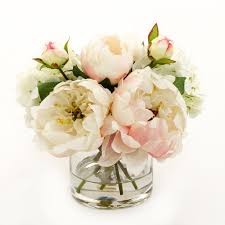 silk peonies light pink silk peonies buds hydrangeas arrangement flovery