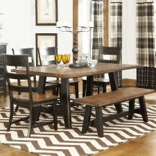 rustic kitchen table with bench large led tv brown ceramic bar top