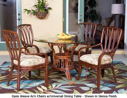 rattan dining room furniture open weave rattan dining set kozy kingdom