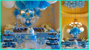 Baby Blue And Brown Baby Shower Decorations Baby Shower Decoration Ideas Boy Boy Baby Shower Decoration Ideas