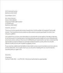 thank you letter after job interview 15 download free documents