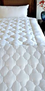 Goose Down Feather Bed Topper New White Goose Down Quilted Mattress Topper With Straps Home