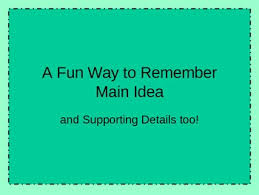 main idea and supporting details powerpoint free by amy brown tpt