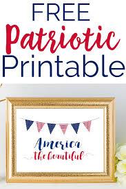 free patriotic printable white and blue america decor