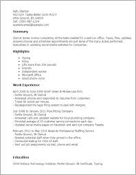 My Perfect Resume Templates by Professional Clerical Templates To Showcase Your Talent
