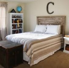 Distressed Wood Headboard by How To Make A Reclaimed Wood Headboard With New Wood For Less Than