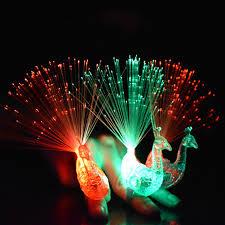 led light up rings led light up rings peacock finger light colorful party gadgets kids