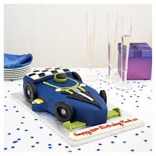easy entertaining racing car cake tesco groceries