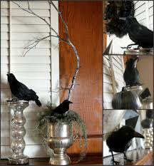 black trees for halloween a simple black u0026 white halloween mantel the v spot