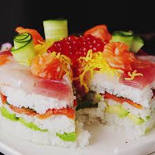 celebration sushi cake recipe tastemade