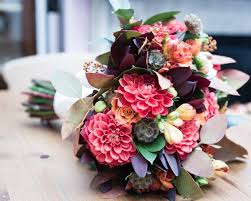 Autumn Wedding Flowers - jewel toned anemones roses heather wedding table flower display in