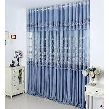 luxury purplish grey lace curtains embroidery for space