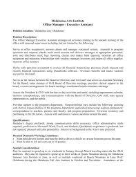 Resume Job Quartz by Job Description Summary Oklahoma Arts Institute At Quartz Mountain