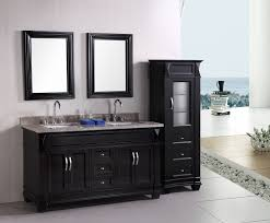 Open Bathroom Vanity by Fetching Black Bathroom Vanity Plus Twin Sinks Feat Arch Faucets