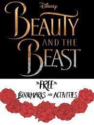 free beauty beast bookmarks