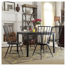 Windsor Dining Room Chairs Norfolk High Windsor Dining Chair Metal Black Set Of 2 Inspire