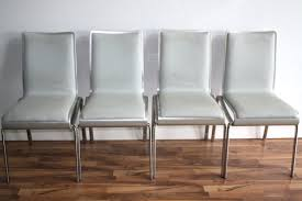 Grey Leather Dining Chair Grey Leather Chairs Gray Dining Set Of 4 Dove And Silver